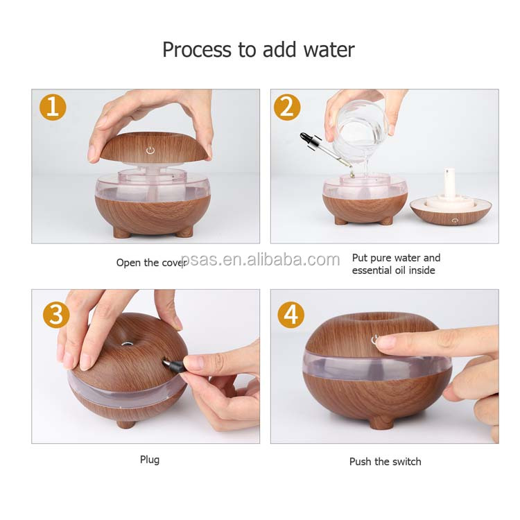 USB Aroma Essential Oil Diffuser steam water Ultrasonic Cool Mist Mini Atomization Humidifier 60pcs/carton