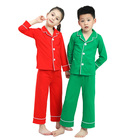Whole sale red elastic pajamas button baby boutique children outfits baby girl clothes set