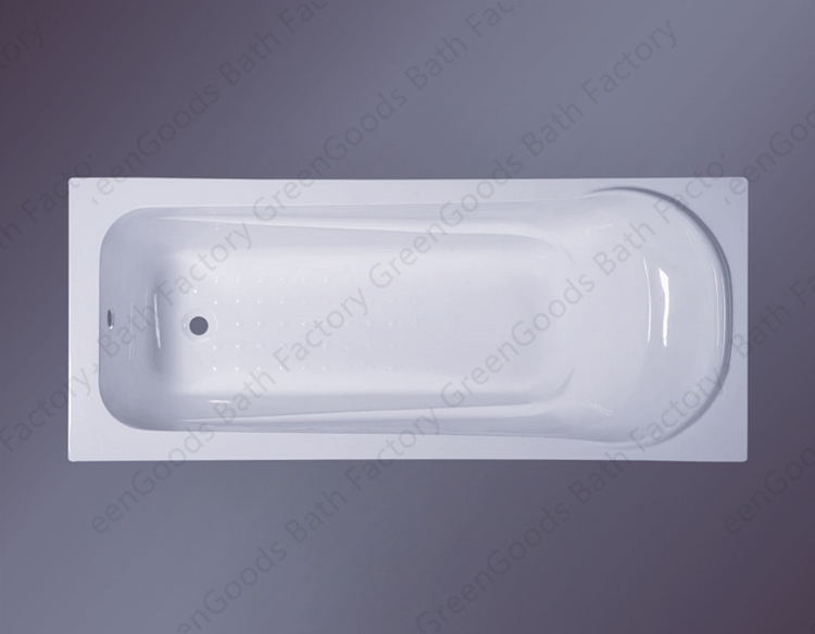 GreenGoods Bath Factory Guangzhou Built in Small Bathtub with Seat