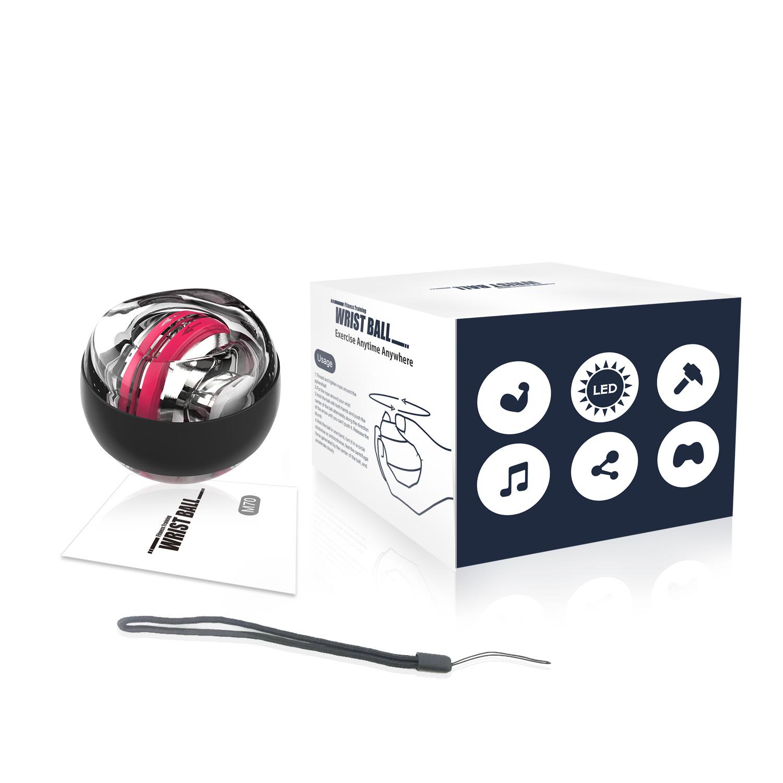 Custom Logo Wrist Exerciser Workout Toy Roller Led Light Wrist Ball For Exerciser Office Computer Users