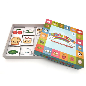 English learning paper intellectual play matching card game