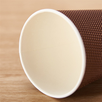 Gloden Supplier 8oz 12oz 16oz kraft paper double wall cup for hot coffee with plastic cover customization printing