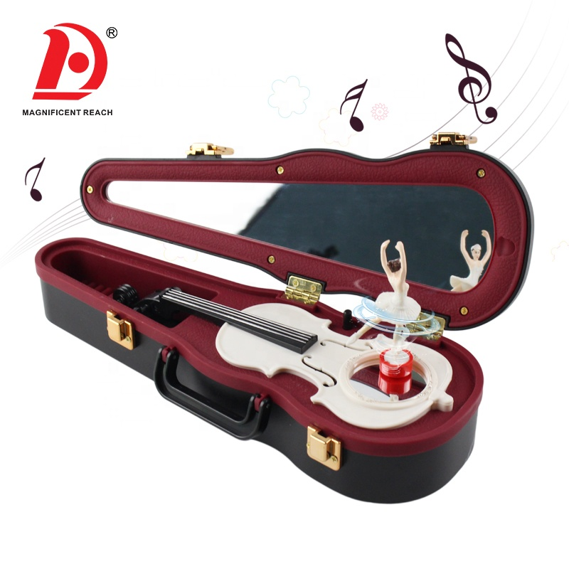 HUADA 2019 Musical Educational Instrument Three Colors Kids Eight Tones Miniature Violin Toy