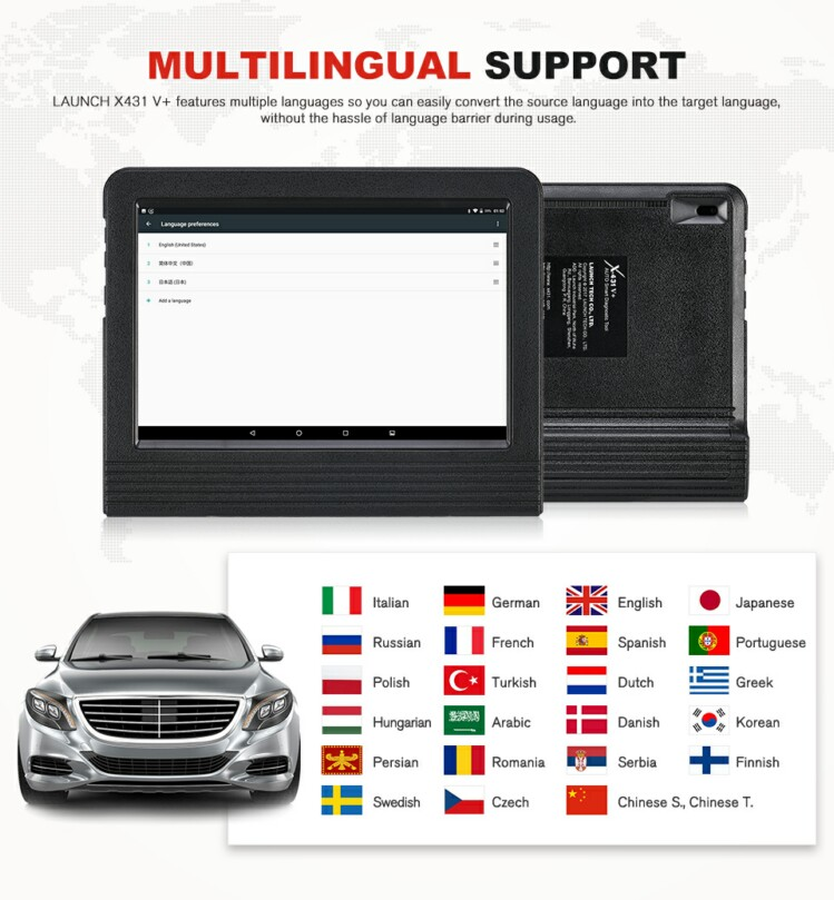 Launch X431 V plus pro3 pro 3 Full System Free Update Multi Car Diagnostic Scanner