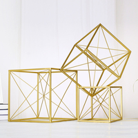 Home Fashion Decoration Metal Geometric Furnishing Articles