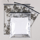 T-shirt Custom Printed Mylar Recycled Frosted T-shirt Ziplock Plastic Bag Packing Bags For Clothes