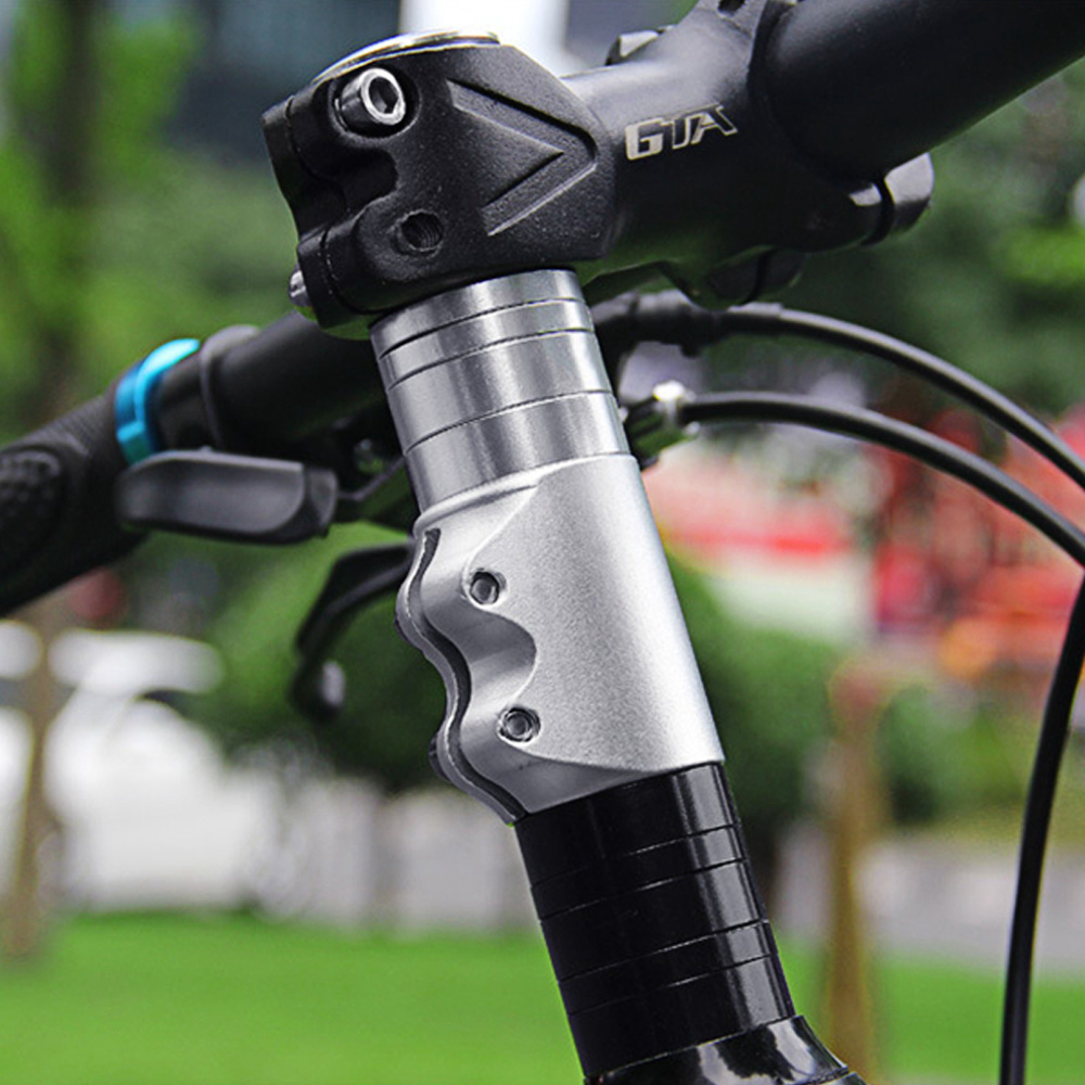 Taiwan Anodized Color Alloy 28.6mm Height Increased Mountain Bike Stem Extension Cycle Accessories Bicycle Handlebar Extender