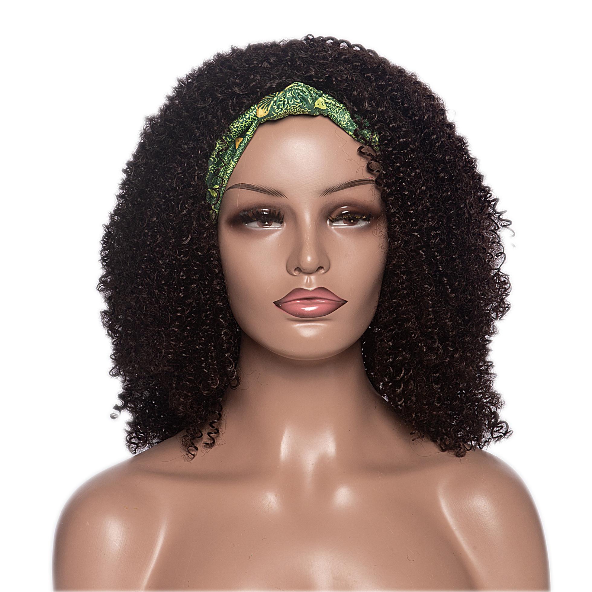 Aishili High Quality Kinky Curly Wigs Headband Wigs For