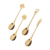 Wholesale Coffee Spoon  New Creative Gifts 304 Stainless Steel Shape of Heart Clover Rose  Spoon