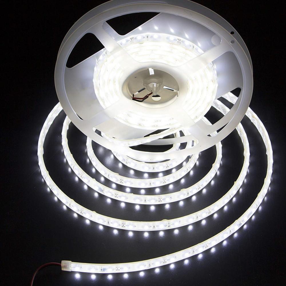 Brand Vampol 5M/16.40ft Flexible Bright LED Strip Lights 12V Waterproof 3528 SMD Cool White 300 LED Strip in LED strip Lights