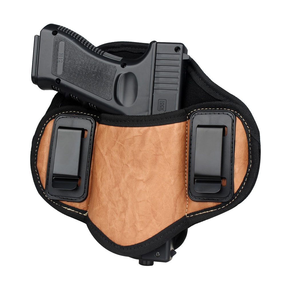 Tactical Hunting Pistol <strong>Gun</strong> <strong>Holster</strong> PU Leather IWB Concealed Carry <strong>Holsters</strong> for Handgun