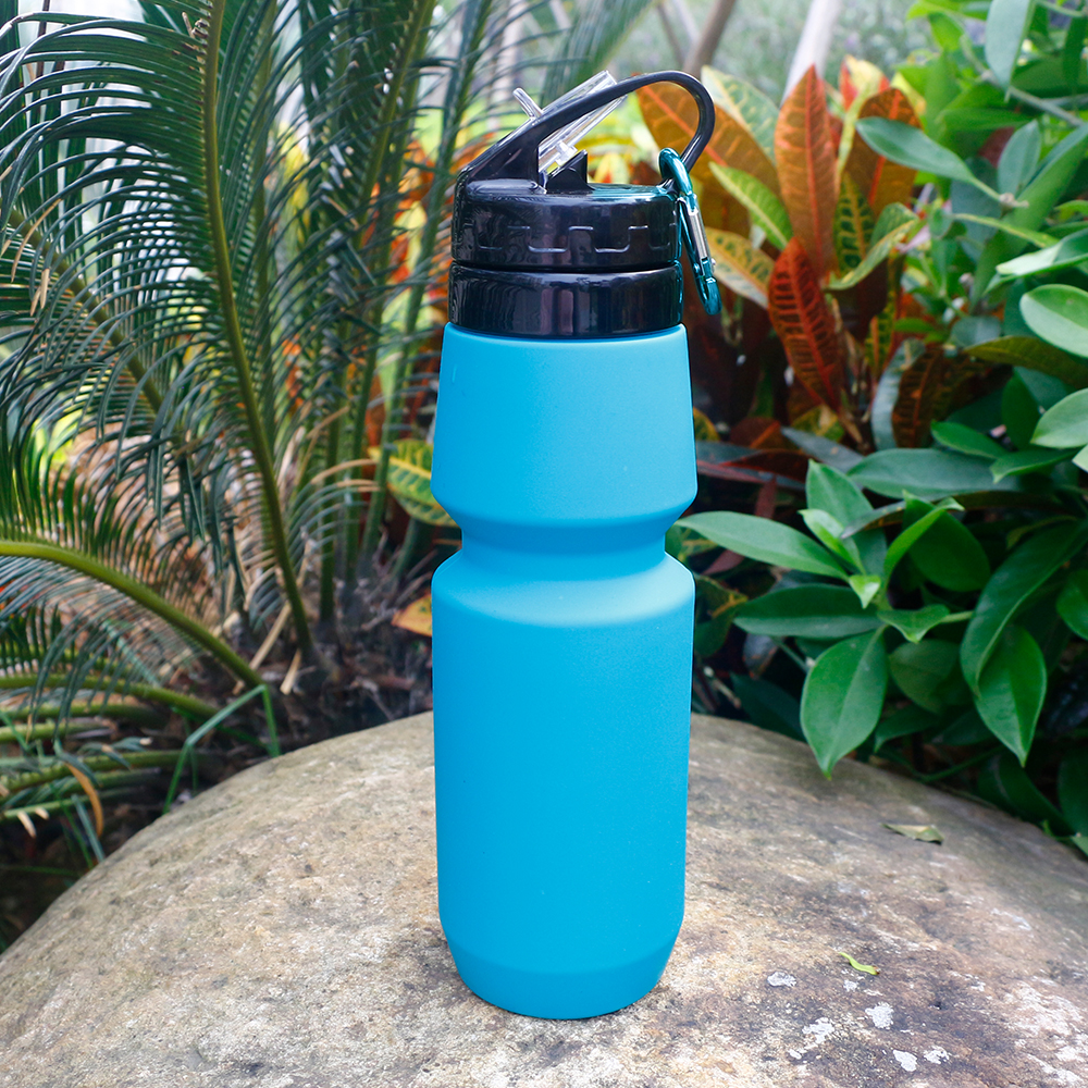 BPA Free Folding Silicone Drinking Canteen Leak Proof Sport Water Bottles Flexible Good Silicone Travel Bottles