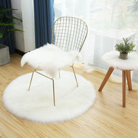 Wholesale OEM custom anti-pilling faux fur long plush floor seat cushion