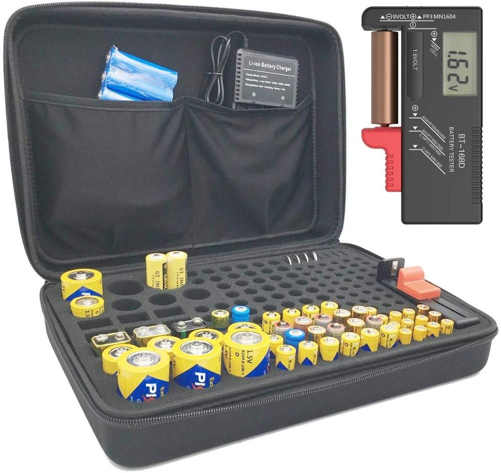 Manufacturers Custom <strong>Hard</strong> Shell Zipper Carrying <strong>Case</strong>, Eva <strong>Hard</strong> Tool <strong>Case</strong> For Batteries Organizer