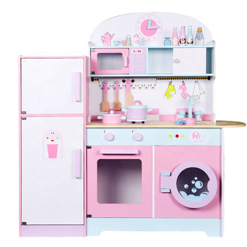 Cooking Toy with Refrigerator for Kids Play Kitchen Toys