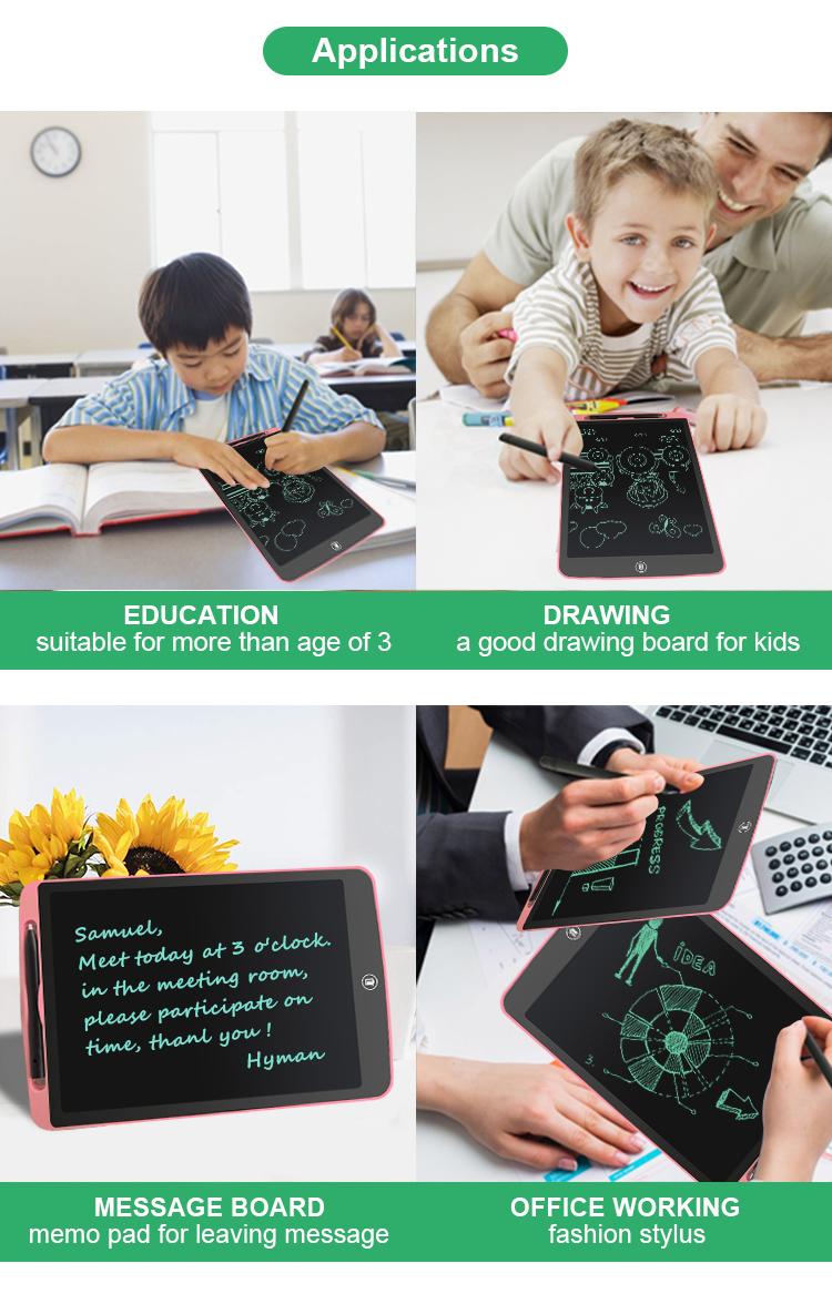 Newyes 8.5 Anak-anak Inch LCD Elektronik Memo Pad Digital Slate Menggambar Tablet untuk Menulis