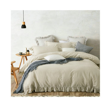 Linen Bed 100% Pure French Linen Duvet cover Sets Customer Size bedding sets