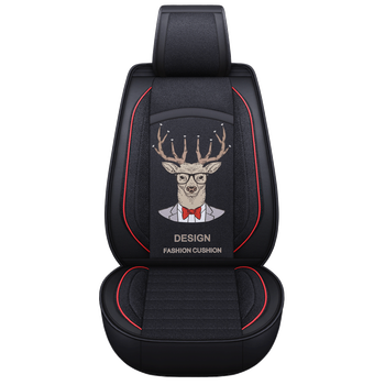 Car Interior Accessories Polyester, Eco-Friendly Polyester And Leather Material Car Seat Cover Mr Cartoon deer
