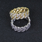 Diamond Ring Rings High Quality Gold Silver Miami Diamond Cuban Link Jump Ring For Men
