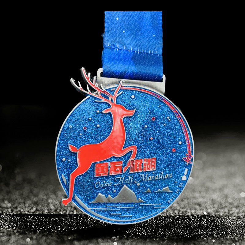 Free design custom Christmas run marathon medallion the University Sports Meet medals
