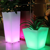 rechargeable led yard decoration champagne barrel flower pot