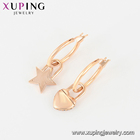 Earring Rose Gold Earrings Earrings Rose Earring 420 Xuping Trend Star And Moon Elements Asymmetrical Rose Gold Plated Earrings