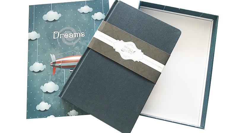 hardcover linen custom notebook/planner/journal/agenda with box