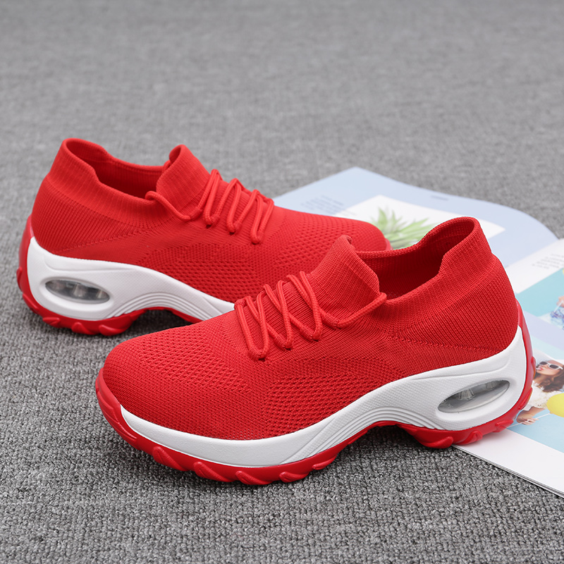Women Casual Shoes Platform Trend Rubber Woman Fashion wedges Sneaker Zapatillas Mujer 2019 Fashion Shoes For Women
