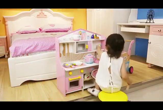 Big Play Kitchen Cooking Role Play Set Children Wooden Kitchen Toy Set