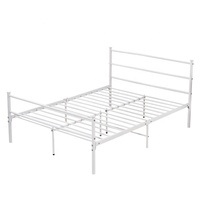 Wholesale Luxury Design Metal Mesh Twin White Bed Frame For Sale