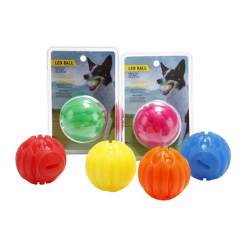 Dog Toy Supply LED Glowing Waterproof Toy Training Ball Bite Resistant Ball Pet Toy