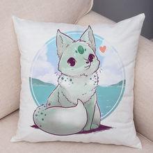 Подушка с Пикачу Pokemon, декоративная красочная милая наволочка с мультяшным животным, подушка для дивана, автомобиля, дома, плюшевая наволочк...(Китай)