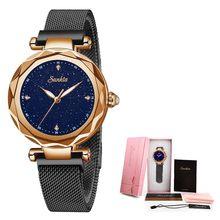 SUNKTA, алмазная поверхность, керамический ремешок, модные водонепроницаемые женские часы, лучший бренд, Роскошные Кварцевые часы для женщин, ...(Китай)