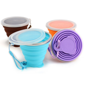 Wholesale BPA Free 270ml Collapsible Silicone Cup Outdoor