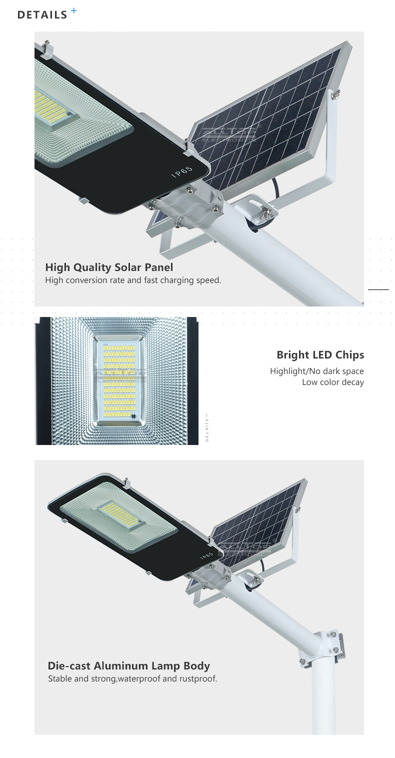 ALLTOP High performance ip65 waterproof remote control 100w integrated LED Solar Street Light