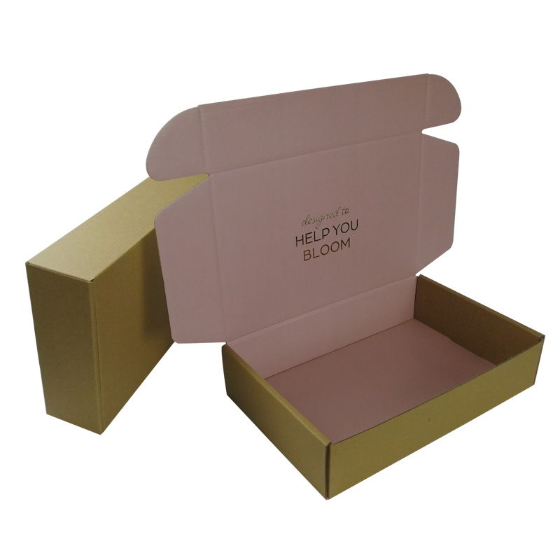 Custom Logo Pink Corrugated Carton Box Mailer Shipping Box Apparel Packaging for Dress Clothing T-shirt Suit Mailer Gift Box