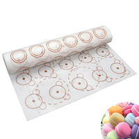 Wholesale Amazon Best Selling New Product FDA Non-Stick Double-sided Bear French Dessert Macaron Mat Silicone Baking Sheet Mats