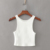 Candy color bodycon stretchy crop tops women summer casual tank top