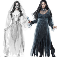 Halloween New Ghost Bride Zombie Suit Zombie Costume Masquerade Cosplay Costume Vampire Devil