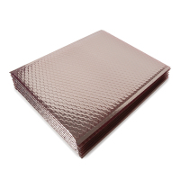 Pink composite bubble mailer metallic envelope for protective packaging in transportation
