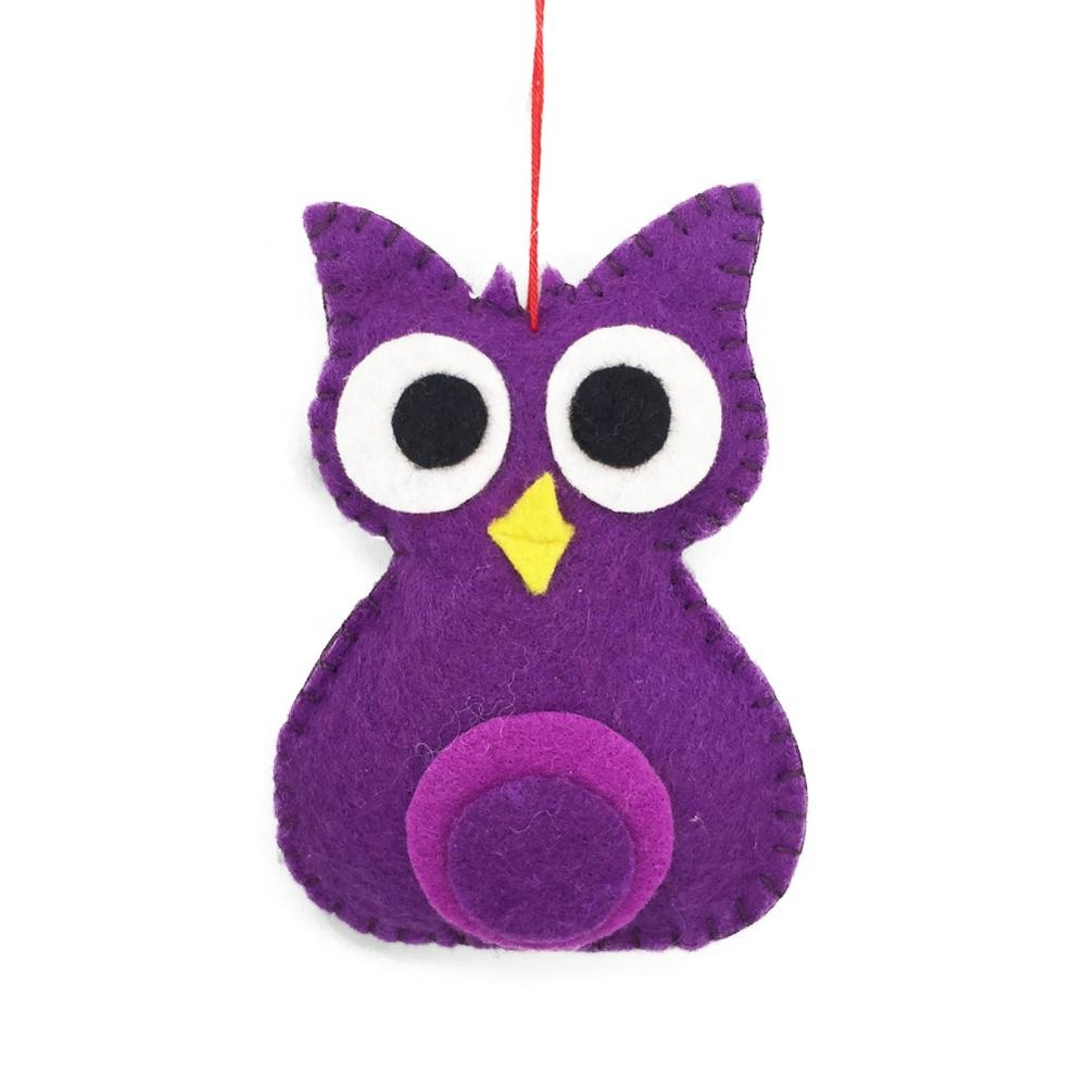 Handmade Felt Animals Christmas Owl Decoration
