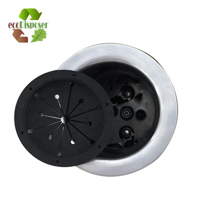 High Quality No Easy Deformation Black Food Waste Disposer Parts Garbage Disposal Accessories