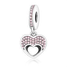 Праздник звезды друг моей любви сердце любимый кулон для матери Шарм Fit Pandora браслет 925 пробы серебряные ювелирные бусинки(Китай)