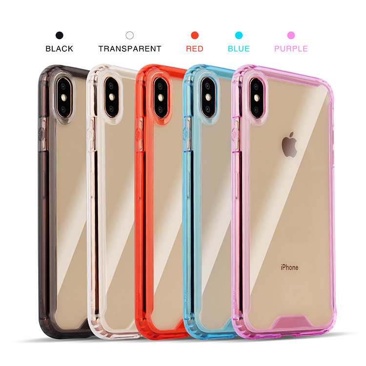 New fashion colorful transparent acrylic tpu phone case cover for iphone x / xr / xs max