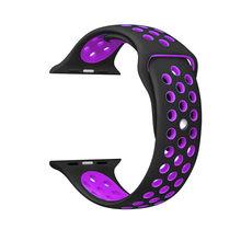 Силиконовая лента для ремешок для часов аpple, 42 мм, 38 мм, сменный ремешок для наручных часов iwatch, версия 4/3/2 apple watch band 44 мм 40 мм Браслет спортивн...(Китай)