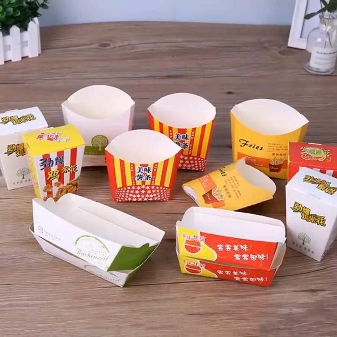OEM مصنع مبيعات الدجاج والرقائق الوجبات السريعة يسلب صندوق ورقي