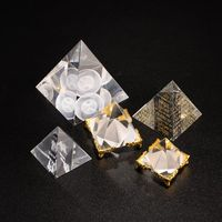 Wholesale Healing Small Feng Shui Shape Egyptian Crystal Clear Pyramid Ornament