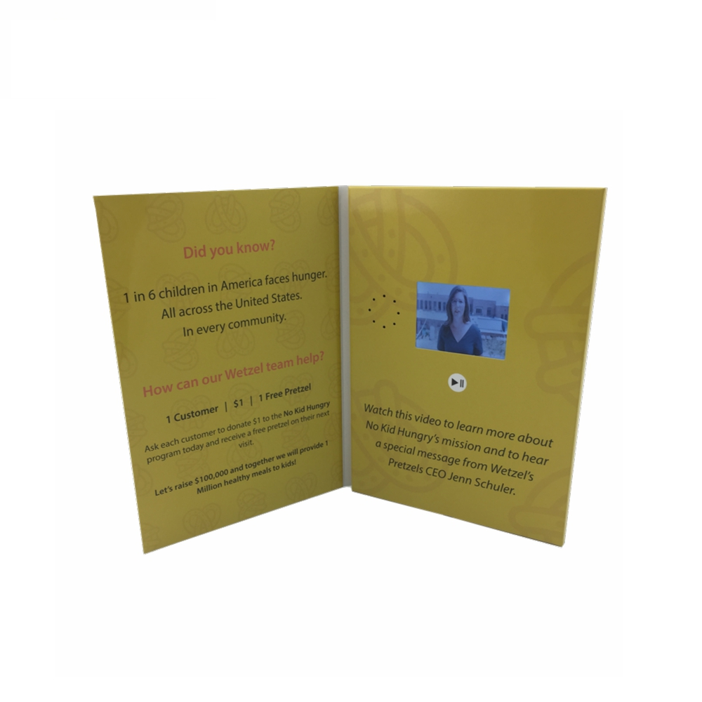 Cote 2.8 Inch Handsome And Musical Video Invitation Cards/LCD Video Brochures