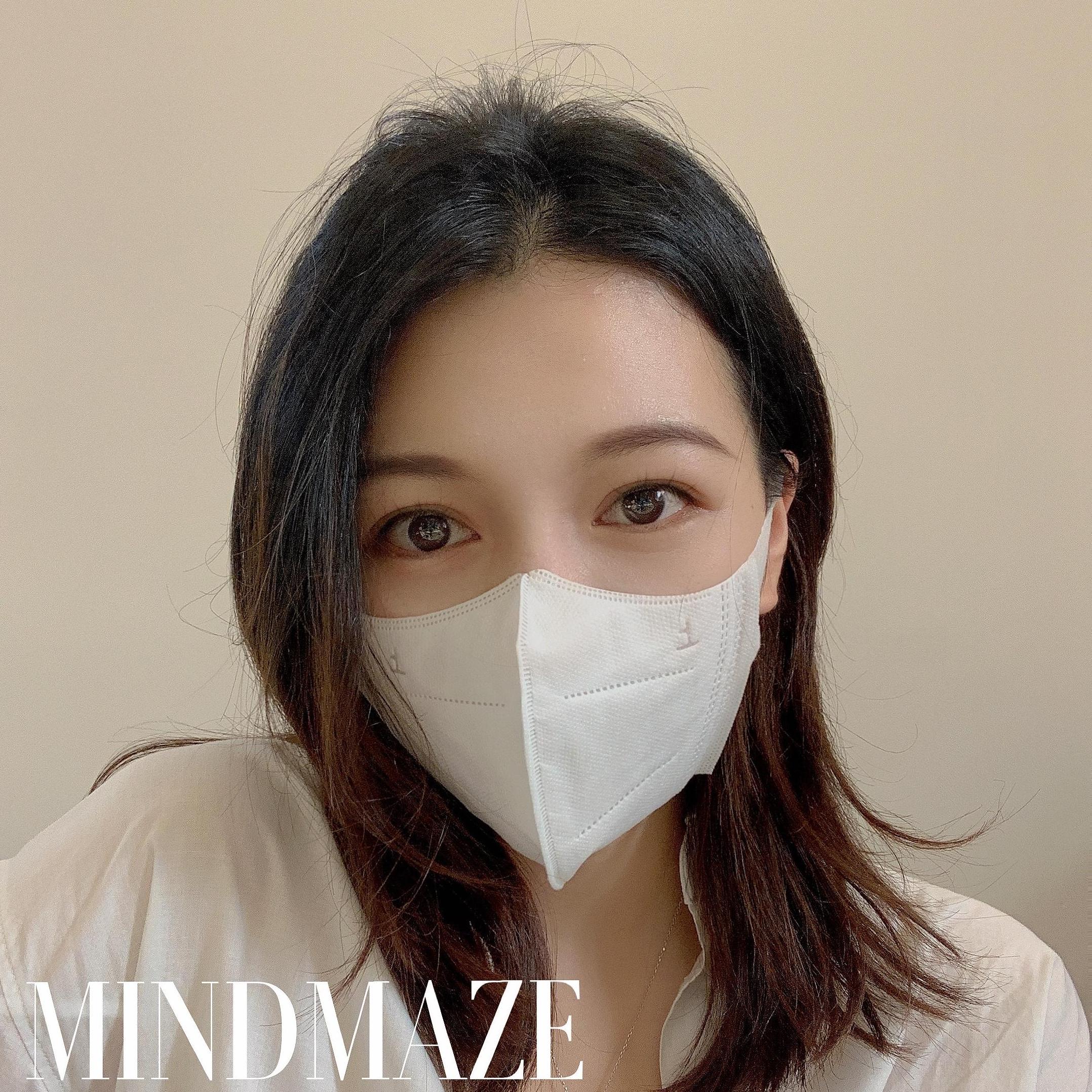 New Breathe smoothly 3d design face mask Light mask(图1)
