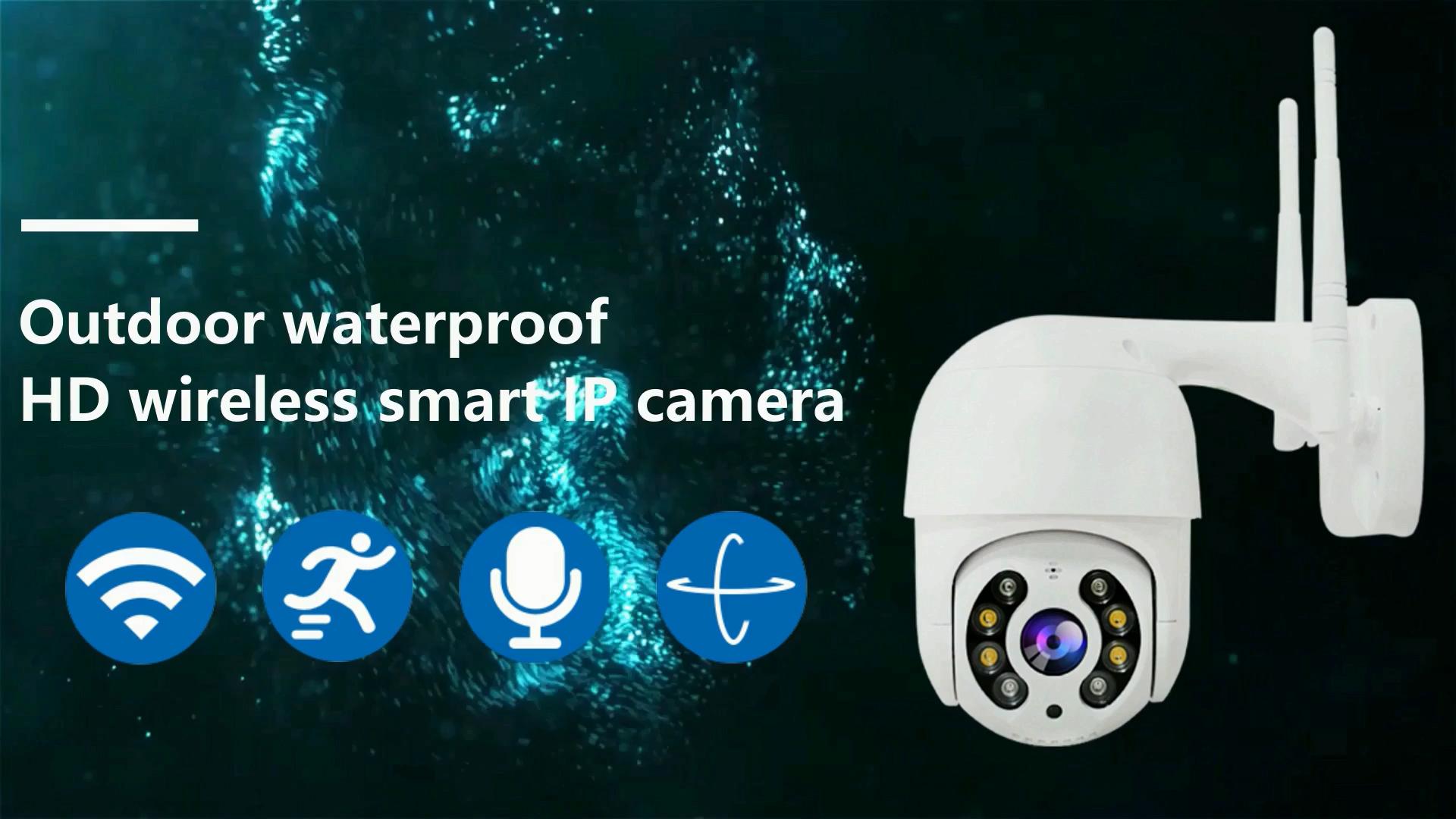 P2P ONVIF תמיכה אלחוטי חיצוני מצלמה 1080P שתי דרך אודיו עם 40M IR מרחק